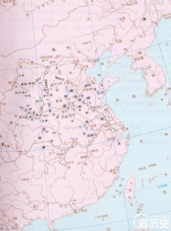 商朝地图——中国古代商朝地图