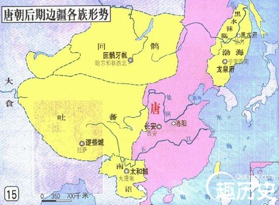 唐朝地图——中国古代唐朝地图