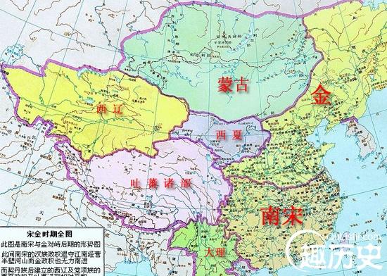 宋朝地图——中国古代两宋时期地图