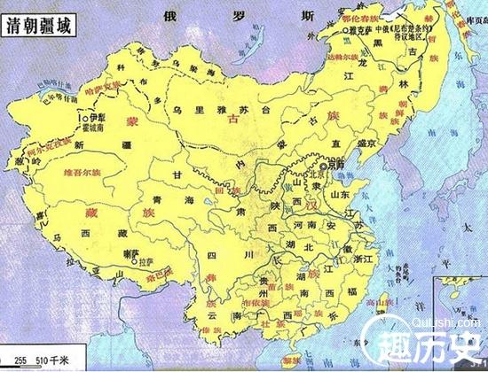 清朝地图--中国古代清朝地图