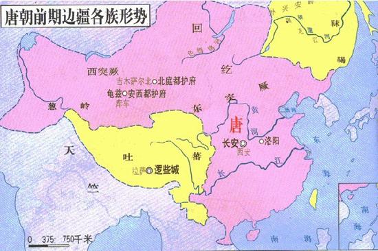 唐朝时代的地图