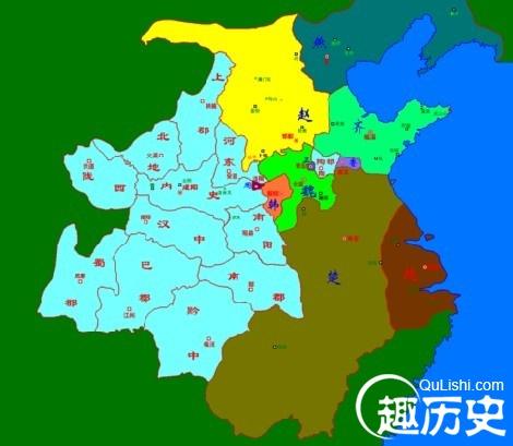 秦朝地图——中国古代秦朝时期中国版图