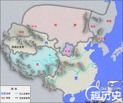 晋朝地图--古代两晋时期的中国版图介绍