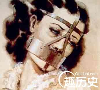古代美女手绘面纱