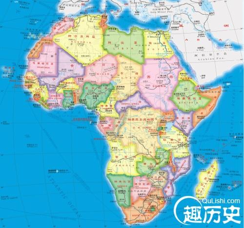 非洲——世界史非洲地图
