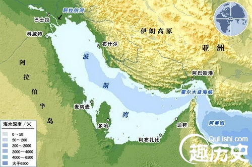 沿岸和湾内重要港口有:阿巴丹,哈尔克岛,布什尔,巴士拉,法奥,科威特港