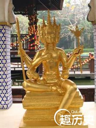 印度教的三大主神_印度教的创造之神:印度三大主神之大梵天简介