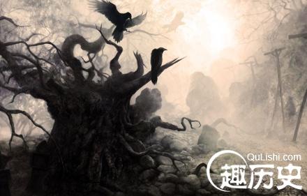 枯树乌鸦简笔画