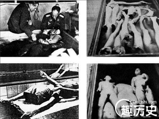纳粹羞辱残杀妇女恐怖真实黑镜头:女人尸体成堆