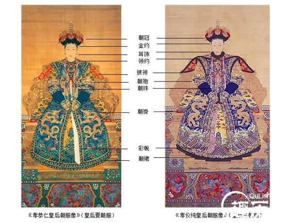 清朝服饰之:清朝皇后的朝服朝褂