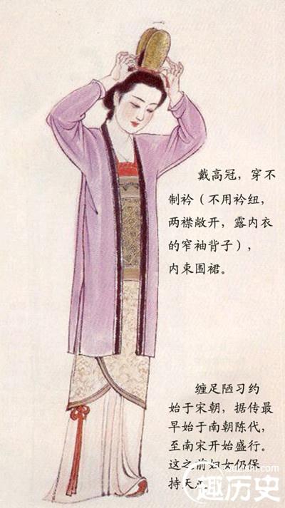 宋朝服饰:宋代妇女服装