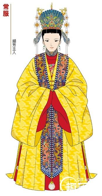 明朝服饰:明朝皇后燕居冠服
