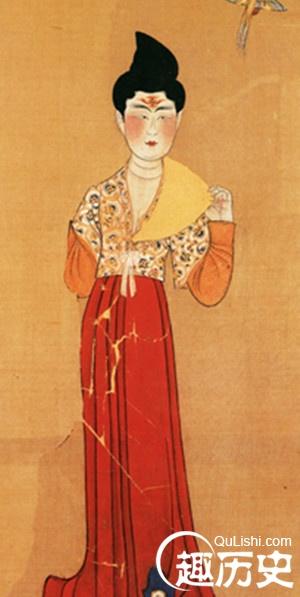 唐朝金色衣服花纹