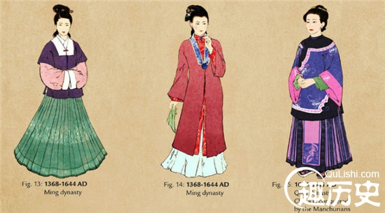 中国历代女子服饰的变迁 古代女子服饰史图片