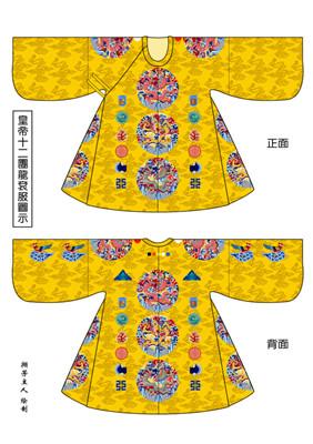 明朝服饰属于汉族传统服饰体系,在经过元代蒙古人统治之后,明朝恢复汉族的传统,明太祖朱元璋重新制定了服饰制度。明代许多男子流行的发式都是明太祖首创的。比如「网巾」,有象征国家法令齐全的意思,「四方巾」象征国家太平,还有「瓜皮帽」,它几乎被现代的西方人当作中国典型的帽子了。服饰发展到明代,最突出的特点是以前襟的纽扣代替了几千年来的带结。但是纽扣并非始于明代,从元代的辫线袄子腰围部分曾经见到过钉纽扣的形式。纽扣的使用也是一种变革,体现着时代的进步。